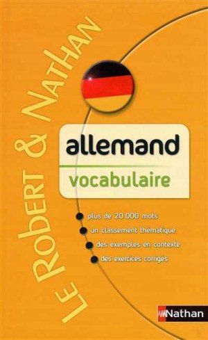 Allemand vocabulaire - Nathan - 9782091844725 -