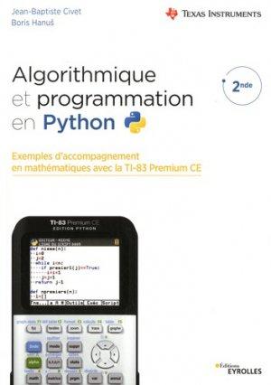 Algorithmique et programmation en python - Eyrolles - 9782212677690 -