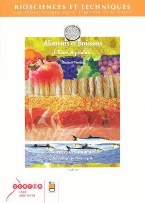 Aliments et boissons Filières et produits - doin - 9782704012633 -