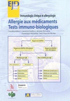 Allergie aux médicaments - john libbey eurotext - 9782742006267 -