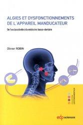 Algies et dysfonctionnements de l'appareil manducateur - edp sciences - 9782759810437