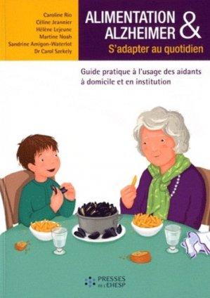 Alimentation et Alzheimer : s'adapter au quotidien - presses de l'ehesp - 9782810900374 -