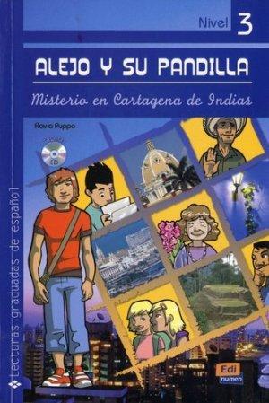 Alejo y su pandilla Nivel 3 - Misterio en Cartagena de Indias + CD - Editorial Edinumen S.L. - 9788498481730