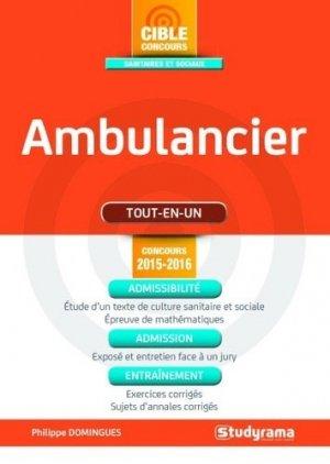 Ambulancier - Tout-en-un - studyrama - 9782759029730