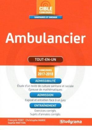 Ambulancier  Tout en Un - studyrama - 9782759034765