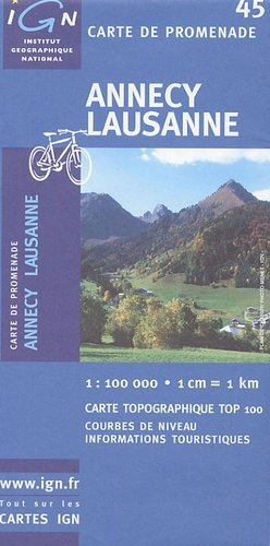 Annecy - Lausanne - ign - 3282111004536 -