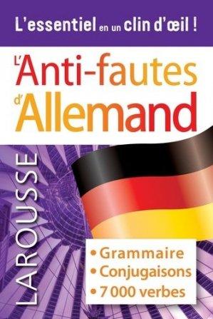 Anti-Fautes Allemand - Larousse - 9782035988010 -