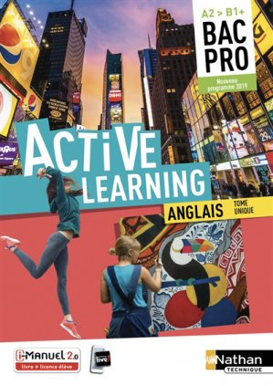 Anglais Bac Pro A2>B1+ Active Learning - Nathan - 9782091654454 -