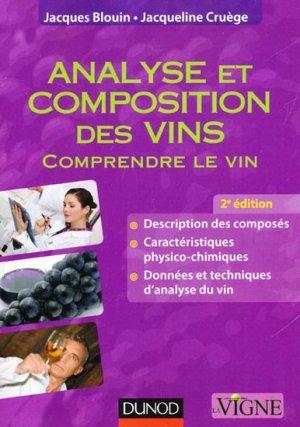 Analyse et composition des vins - dunod - 9782100597284 -