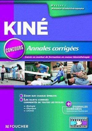 Annales corrigées concours Kiné - foucher - 9782216115501 -