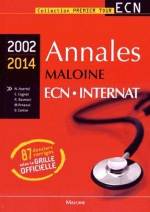 Annales maloine ECN Internat 2002 - 2014 - maloine - 9782224034351 -