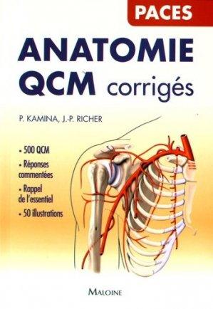 Anatomie QCM corrigés - maloine - 9782224034818 -