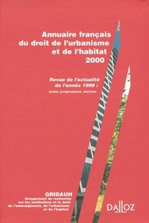 Annuaire français du droit de l'urbanisme et de l'habitat  - dalloz - 9782247040926 -