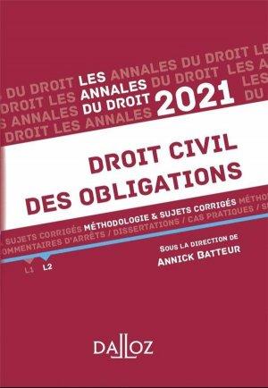 Annales Droit civil des obligations - dalloz - 9782247198528 -
