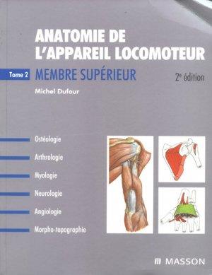Anatomie de l'appareil locomoteur - elsevier / masson - 9782294080562 -