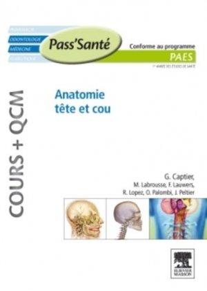 Anatomie tête et cou - elsevier / masson - 9782294712166 -