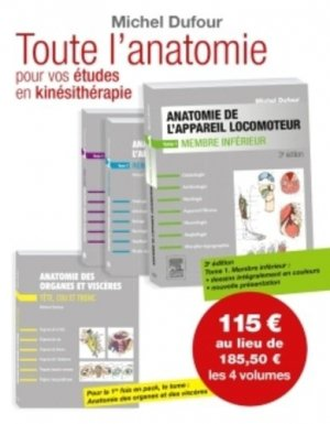 Anatomie de l'appareil locomoteur Pack 4 volumes - elsevier / masson - 9782294751462 -