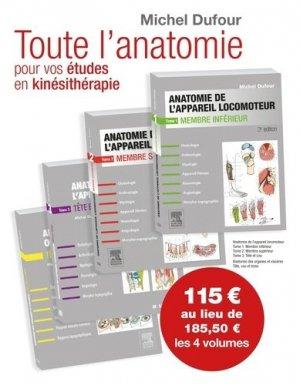 Anatomie de l'appareil locomoteur - Anatomie des organes et des viscères - elsevier / masson - 9782294754227 -