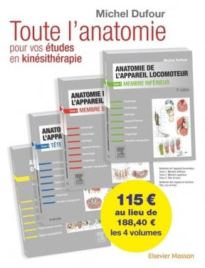 Anatomie de l'appareil locomoteur - elsevier / masson - 9782294759215 -