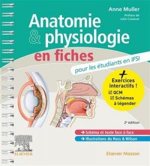 Anatomie et physiologie en fiches pour les étudiants en IFSI - elsevier / masson - 9782294773679 -