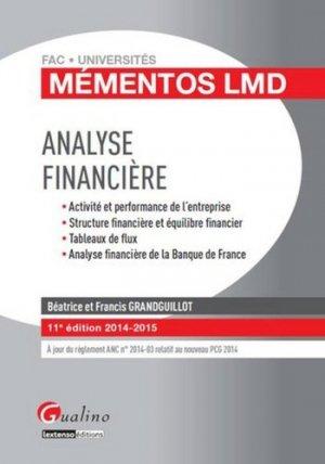Analyse financière 2014-2015 - gualino - 9782297039574 -