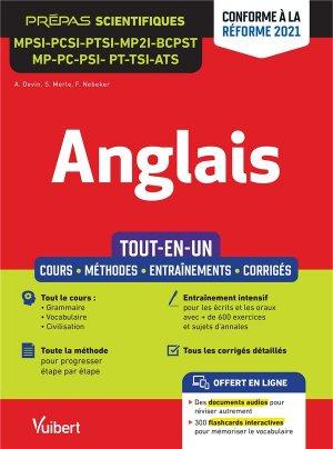 Anglais MPSI - PCSI - PTSI - MP2I - BCPST - MP - PC - PSI - PT - MPI - TSI - ATS - Tout-en-un - vuibert - 9782311409345 -
