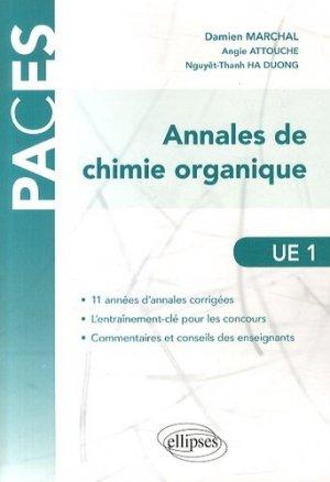 Annales de chimie organique UE1 - ellipses - 9782340000773