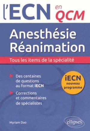 Anesthésie-Réanimation - ellipses - 9782340004986 -