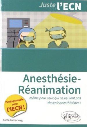 Anesthésie-Réanimation - ellipses - 9782340008458 -