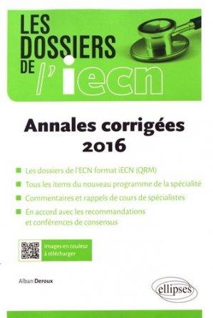 Annales corrigées 2016 - ellipses - 9782340017689 -