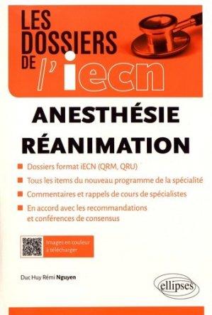Anesthésie - Réanimation - ellipses - 9782340022645 -