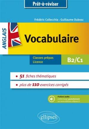 Anglais vocabulaire thématique - Avec exercices corrigés et fichiers audio B2-C1 - ellipses - 9782340022683 -