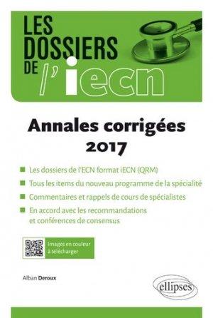 Annales corrigées 2017 - ellipses - 9782340025431 -