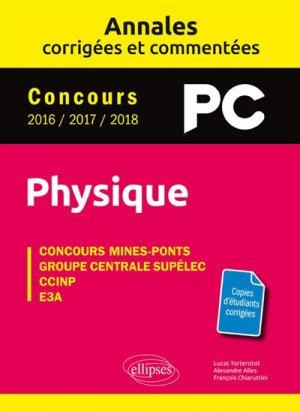 Annales corrigées et commentées Physique PC - ellipses - 9782340026681 -