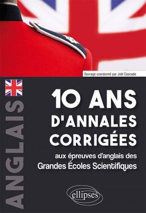 Anglais 10 ans d'annales corrigées - ellipses - 9782340028319 -
