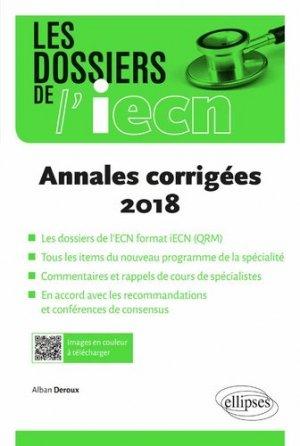 Annales corrigées 2018 - ellipses - 9782340029927 -