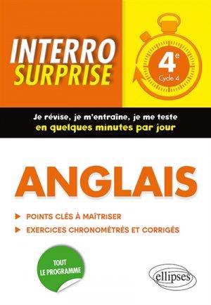 Anglais 4e Interro Surprise - ellipses - 9782340031319 -