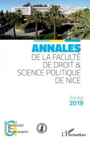 Annales de la faculté de droit & science politique de Nice - l'harmattan - 9782343198989 -