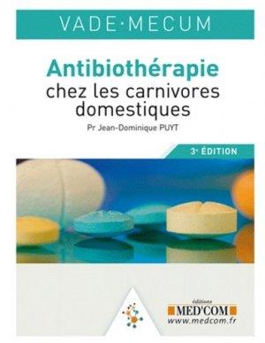 Antibiothérapie chez les carnivores domestiques - med'com - 9782354030841 -