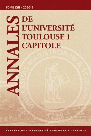 Annales de l'université Toulouse 1 Capitole - Institut fédératif de recherche - 9782361702267 -