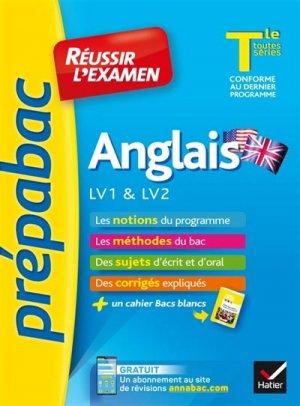Anglais LV1 & LV2 Tle toutes séries - Hatier - 9782401047204 -
