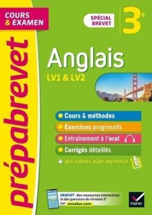 Anglais 3e Spécial Brevet - Hatier - 9782401078260 -