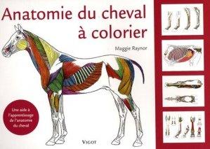 Anatomie du cheval à colorier - vigot - 9782711418817 -