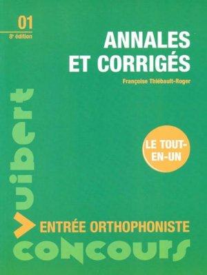 Annales et corrigés Entrée orthophoniste - vuibert - 9782711714605 -