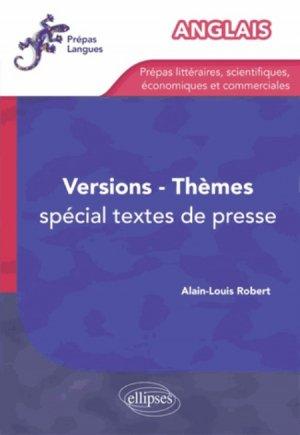 Anglais versions thèmes. Spécial extraits de presse - ellipses - 9782729877200 -