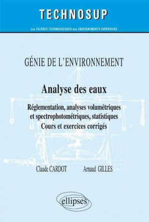 Analyse des eaux - ellipses - 9782729883478 -