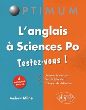 ANGLAIS A SCIENCES PO  - ELLIPSES - 9782729883935 -