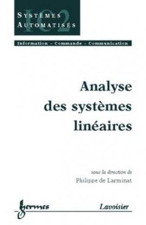 Analyse des systèmes linéaires - hermès / lavoisier - 9782746204911 -