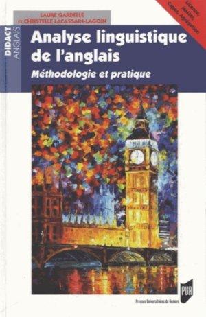 Analyselinguistiquedel'anglais - presses universitaires de rennes - 9782753520967 -