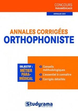 Annales corrigées orthophoniste - studyrama - 9782759015276 -